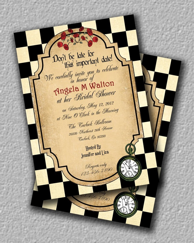 Alice In Wonderland Invitations Inviting Designs By Angela